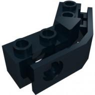 2991-11G Technic, gebogen steen 1x2 - 1x2 met bumperhouder zwart gebruikt *