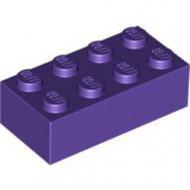 3001-89G Steen 2x4 paars, donker gebruikt *5K0000