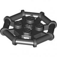 30033-11 Platte plaat 2x2 met 8-kantig frame zwart NIEUW *1L0327