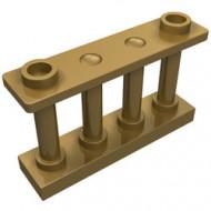 30055-115 Balustrade-hek 1x4x2 met 2 noppen bovenop goud, parel NIEUW *1L000