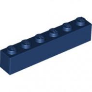3009-63 Steen 1x6 blauw, donker NIEUW *5K0000