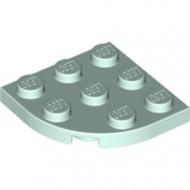 30357-152 Platte plaat 3x3 afgeronde hoek aqua, licht NIEUW *5G000