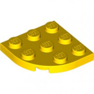 30357-3 Platte plaat 3x3 afgeronde hoek geel NIEUW *5G000