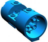 30360-7G Cylinder 3x6x2 2/3 Oudere type niet-gevulde noppen 2x6 blauw gebruikt *