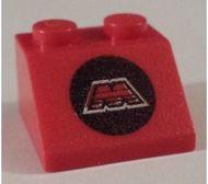 3039p68-5g Dakpan bedrukt 45 2x2 met M-tron logo Rood gebruikt loc