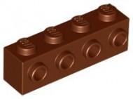 30414-88 Steen 1x4 met noppen één zijde bruin, roodachtig NIEUW *5K0000