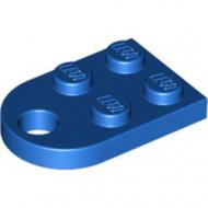 3176-7 Platte plaat 2x2 met gat voor trekhaak (oog) blauw NIEUW *1B234