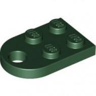 3176-80 Platte plaat 2x2 met gat voor trekhaak (oog) groen, donker NIEUW *1B234