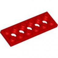 32001-5G Technic, Plaat 2x6 met gaten rood gebruikt *