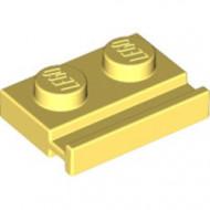 32028-103 Platte plaat 1x2 met deurrail geel, lichthelder NIEUW *1L316/5