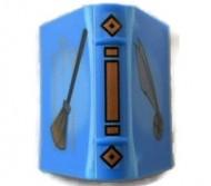 33009pb004-7G Boek met bezemsteel blauw gebruikt *0D0000