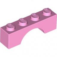 3659-104 Steen, boog 1x4x1 hoog roze, helder NIEUW *