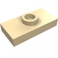 3794-2 Platte plaat 1x2 met 1 nop (loc 01-5) ZIE OOK 15573 crème NIEUW *1L233/11