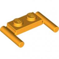 3839b-110 Platte plaat 1x2- 2 hendels lagere setting oranje, lichthelder NIEUW *1L319/11