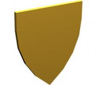 3846-115 Schild driehoek zonder opdruk goud, parel NIEUW *0L0000