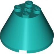 3943b-39 Kegel 4x4x2 MET ASGAT turquoise, donker NIEUW *01B000