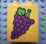 4066pb059-3G DUPLO steen 1x2x2 Druiven Geel gebruikt loc