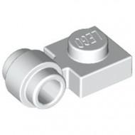 4081b-1 Platte plaat 1x1 met gesloten clip (dikke ring) wit NIEUW *1L289/5