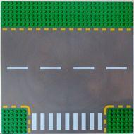 44341pb01-6G Wegenplaat 32x32 zijweg groen gebruikt *3K000