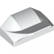 47458-1 Steen 1x1x2/3 Afronding vleugel wit gebruikt *1L0000