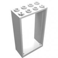 60599-1G Deurpost 2x4x6 wit gebruikt *3D0000