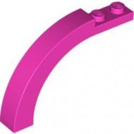 6060-47 Steen, boog 1x6x3 1/3 (90 graden) roze, donker NIEUW *1L000
