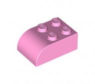 6215-104 Steen 2x3 afgeronde top 4 noppen roze, helder gebruikt loc