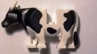 64452pb02c01 Koe met hoorns wit NIEUW *0D000