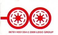 8037stk01 STICKER STAR WARS Anakin's Y-wing Starfighter NIEUW loc