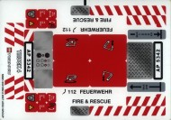 8289stk01 STICKER Fire Truck NIEUW loc