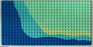 3857px1-38G Basisplaat 16x32 strand Groen, licht gebruikt loc