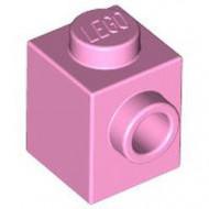 87087-104 Steen 1x1 noppen 1 zijde roze, helder NIEUW *1L034