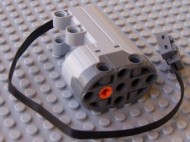 99498c01-86 Motor 9V Power Functions Servo Grijs, lichtblauwachtig NIEUW loc
