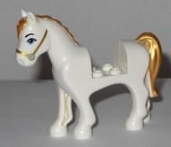 93083c01pb15-1 Friends paard Middenblauwe ogen,gouden manen en staart wit NIEUW *5K000