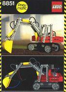 Set 8851 BOUWBESCHRIJVING- Excavator gebruikt loc loc m7