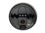 98138pb008-95 Tegel 1x1 ROND Thermal Detonater zilver, mat NIEUW *