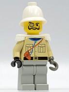 adv039G Baron Von Barron met pith helm and witte Epaulettes gebruikt loc