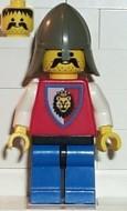 cas065G Royal Knights - Knight 3, met gray helm gebruikt *0M0000
