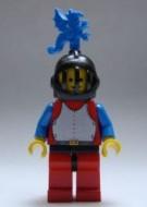 cas280aG Chain Mail - rode, Grill helm, blauw benen, blauw armen, blauw Dragon Plume gebruikt loc