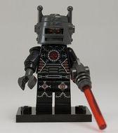 col08-1 Slechte robot met raygun, tr rode stok ;lengte 3 en standaard NIEUW loc