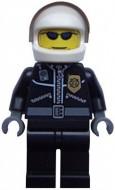 cty0006G Politie- Witte helm, zonnebril, motortpak, donkerblauwgrijze handen gebruikt *0M0000