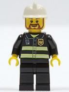 cty0055G Brandweerman met baard en snor gebruikt *0M0000