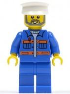 cty0426G Blauwe overall, witte per gebruikt loc