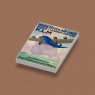 CUS1072 K.L.M. World's Longest Air Line wit NIEUW loc Vliegtuigen
