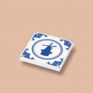 CUS3041 Tegel 2x2 Delfts Blauw - Molen wit NIEUW *0A000