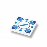 CUS3046 Tegel 2x2 Delfts Blauw - LEGO Brick Separator wit NIEUW *0A000