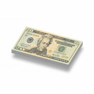 CUS7004 Tegel 1x2 Biljet 20 dollar geel *0A000