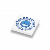 CUSE8168 Jaartegel 2020: Mondkapje wit *0A000