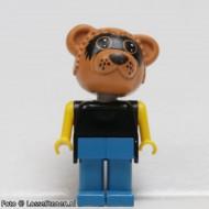 fab12dG Wasbeer 4- Zwarte trui, blauwe broek gebruikt *2R0000
