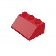HU002 DAKPAN 2x3 45 graden DUPLO compatible rood NIEUW loc